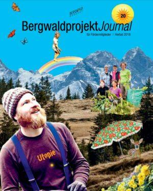 Cover der Zeitschrift BergwaldprojektJournal über die Arbeit der Zukunftsbauern in der Regenerativen Landwirtschaft und dem Market Garden am Schloss Tempelhof.